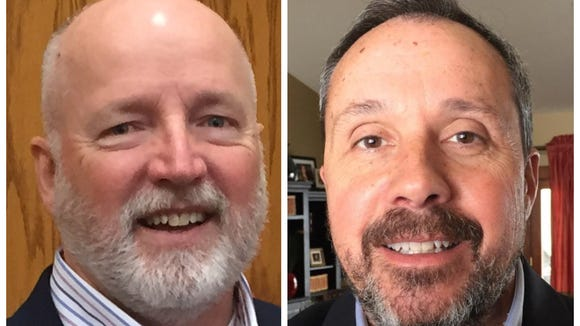 Councilors Rick Kiley and Greg Jamison went a month without shaving for the sake of cancer awareness.