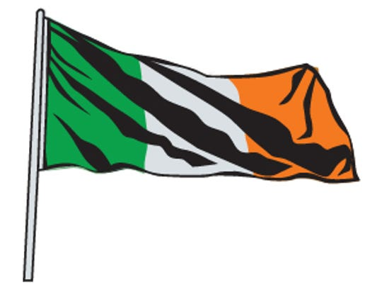 The green of the Irish flag stands for Catholics; orange