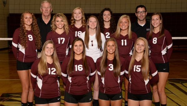 The Lebanon volleyball team won the GWOC South title on Tuesday night.