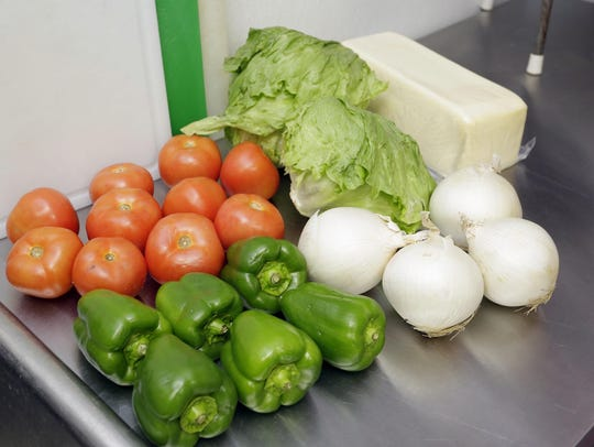 Fresh ingredients await the start of another day of