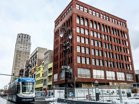 The Shinola Hotel in downtown Detroit on Saturday,