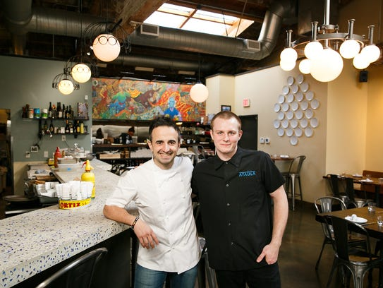 """Ryan Toepfer, right, stands with Jose Chesa, chef-owner of Portland restaurant Ataula, on Thursday, Feb. 22, 2018. Toepfer graduated from South Salem High School in 2012 and will soon be working at San Francisco restaurant Quince as a junior sous chef. """"I love working for Jose,"""" Toepfer said. """"He's a great friend and mentor … He works alongside us every day."""""""