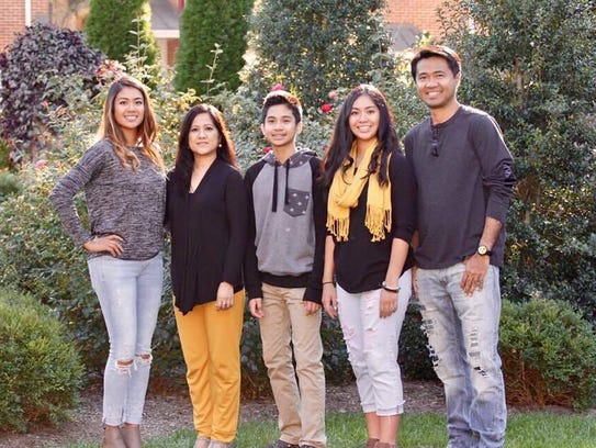 The Razon family is, from left: Desiree, mom Nhor, brother Justin, sister Ashley and dad Alvin.