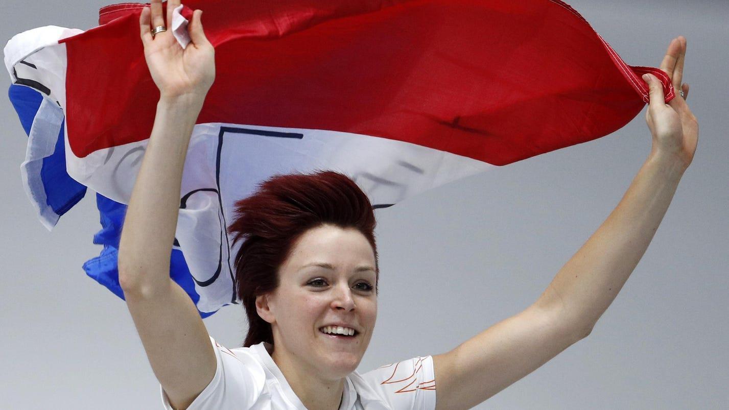 Speedskater Jorien ter Mors sets Olympic record