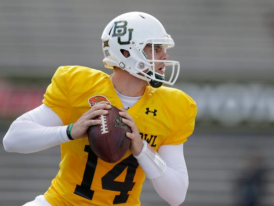 Baylor quarterback Bryce Petty finished his college career with a 550-yard passing performance in the Cotton Bowl against Michigan State.