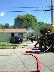 The Jackson Fire Department put out a house fire on