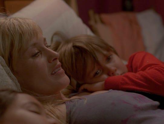 Patricia Arquette and Ellar Coltrane in a scene from