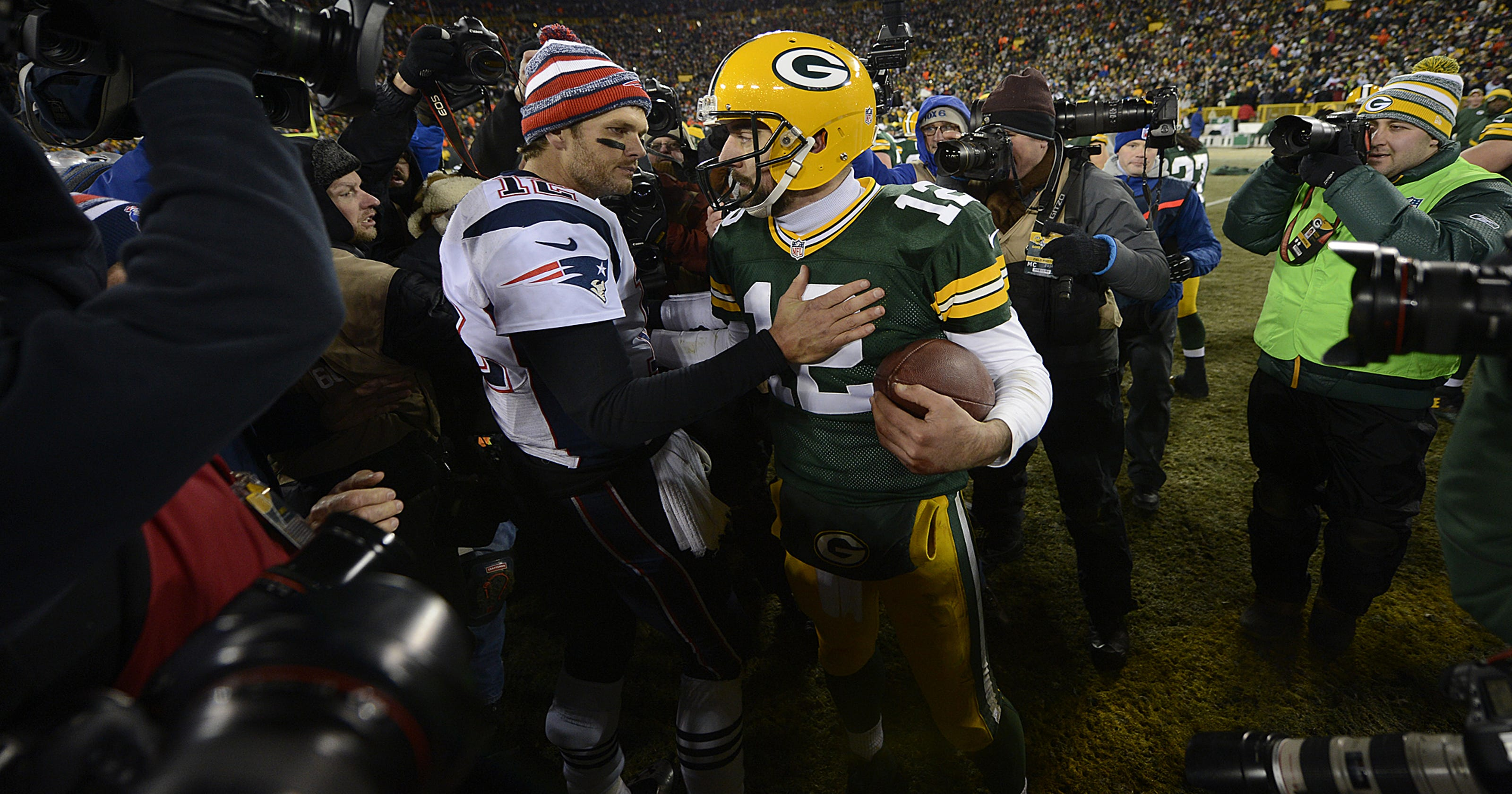 Image Result For Tom Brady And The Patriots Out Duel Aaron Rodgers And The Packers