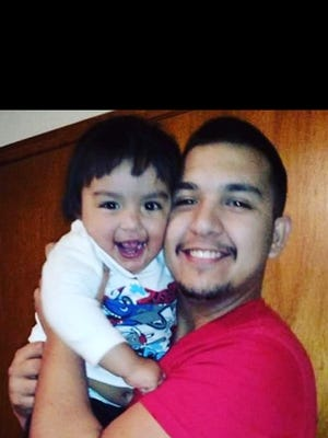 An Amber Alert was issued for 2-year-old Ethan Jacquez, described as three feet tall with dark brown hair. He was last seen wearing a blue-green pajama top and red pajama bottoms. He is believed to still be with Sergio Guadalupe Jacquez, who reportedly took an elderly couple's truck. The truck is described as a white 2001 Ford F-150 extended cab pickup truck bearing New Mexico plates, 134PJW.