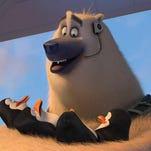 """Skipper, voiced by Tom McGrath in a scene from, """"The Penguins of Madagascar."""""""