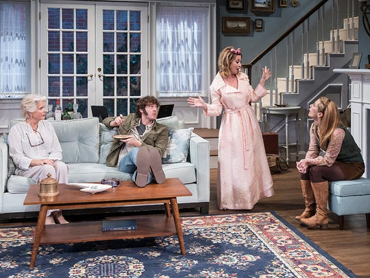 "From left, Meredith Baxter, Matthew Grondin, Sharon Lawrence and Sally Hughes star in the Ensemble Theatre Company's production of ""The City of Conversation"" by Anthony Giardina, now playing at the New Vic Theatre in Santa Barbara."
