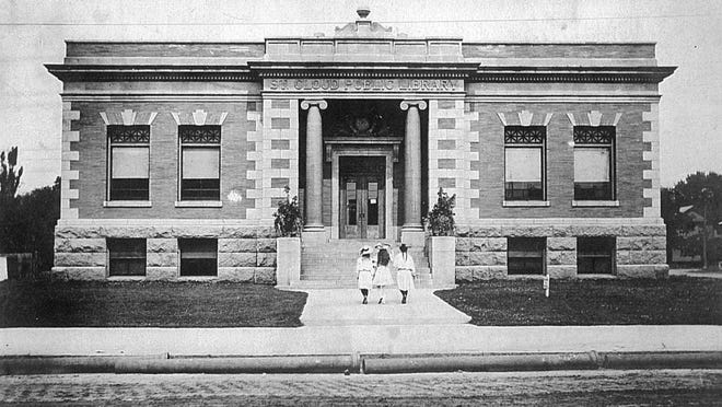 This view of the old St. Cloud Public Library Building is from around 1907. The library once stood on the site on which the Wells Fargo Center is now located downtown.