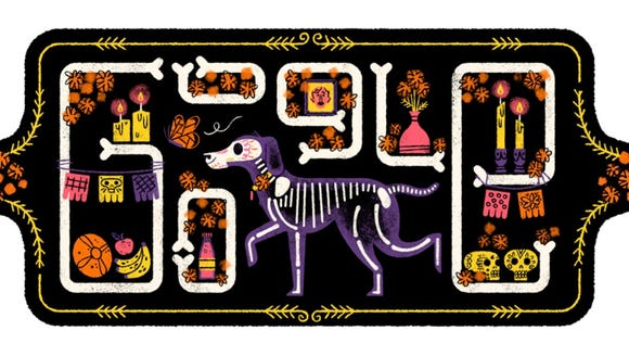 Google's logo in honor of Day of the Dead.