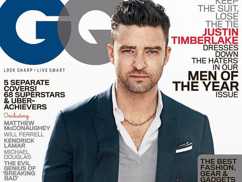 Justin Timberlake is one of five people appearing on separate covers of GQ magazine's  'Men of the Year' issue.