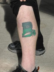 Kevin Hidelberger's tattoo shows his allegiance to