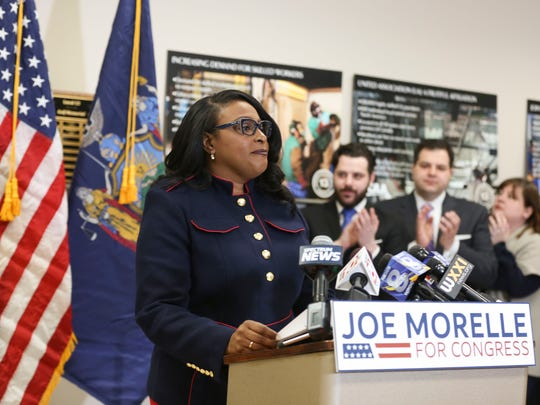 Mayor Lovely Warren gave her endorsement for Joseph Morelle running for Slaughter's congressional seat on Monday, March 26.