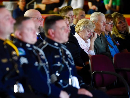Guests watch a live stream of Broadwater County Deputy