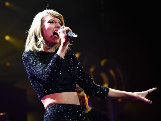 Taylor Swift performs during KIIS FM's Jingle Ball