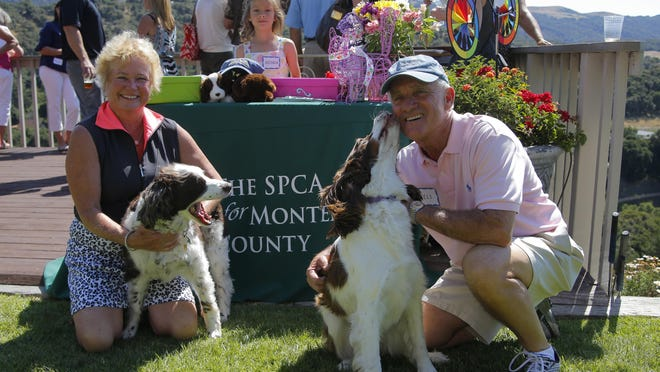 """Nels and Jill Wiegand hosted their annual """"gathering of friends to benefit the SPCA for Monterey"""" Saturday at the home in Corral de Tierra."""