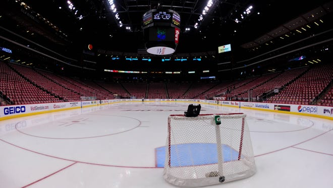 General view of Gila River Arena.