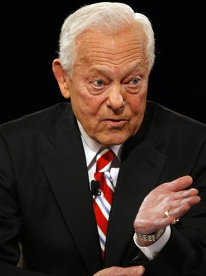 CBS News' veteran journalist Bob Schieffer, shown moderating a presidential debate in 2008,  will retire this summer, he announced Wednesday.