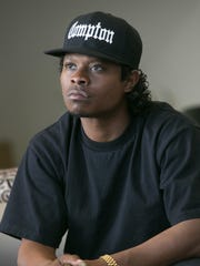 "Jason Mitchell is Eazy-E in ""Straight Outta Compton."""