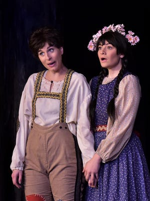 """Mary Beth Nelson, left, and Stacey Geyer star in the Tri-Cities Opera production of """"Hansel and Gretel."""""""