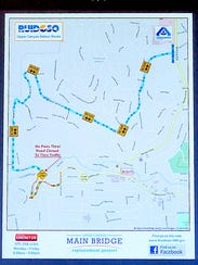 The detour map for Upper Canyon access was issued by