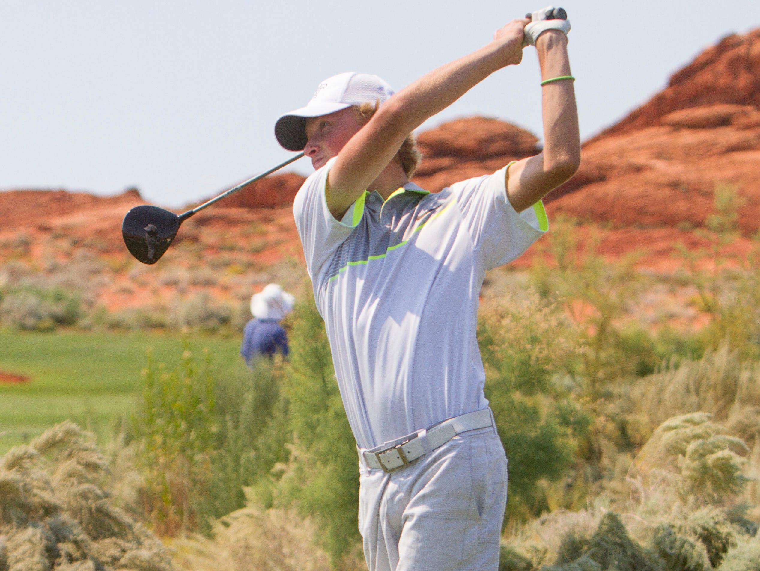 Hs golf gardner and geraldo help snow canyon sweep titles for Gardner golf course