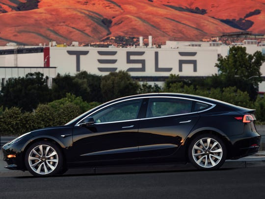 The first production Model 3.