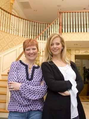 """Caroline and Dina Manzo, seen in happier days in 2009, are trading places on """"The Real  Housewives of New Jersey."""" They're apparently still not speaking."""