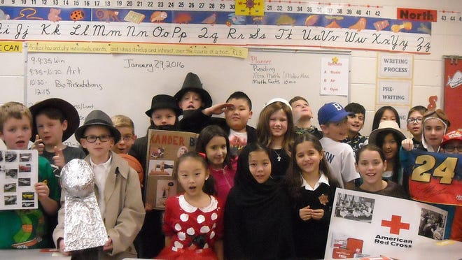 Fourth-grade students at Jackson Elementary School researched and presented Living Biographies in the classroom recently. The students dressed in costumes and props and remained in character as they presented their biographies as a way to study historical figures who made a difference in the world.