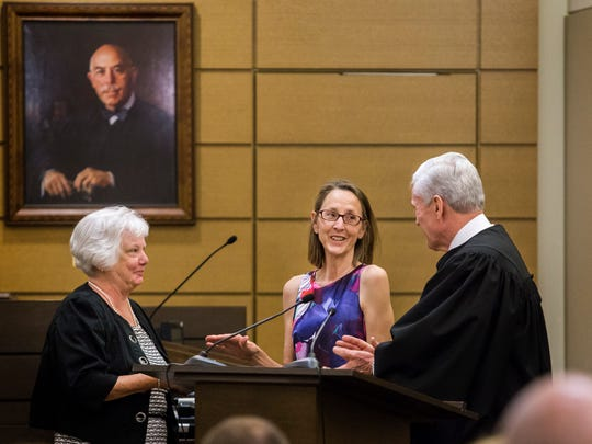 Mary S. Much is sworn in as a Delaware Family Court judge.