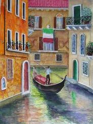 """Venice"" by Pensacola artist Richard Morrison, 90."