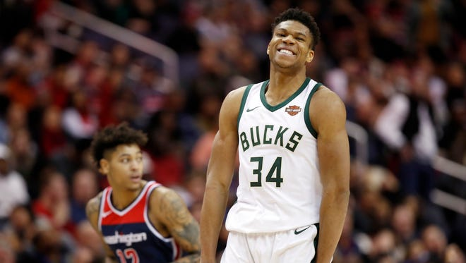 Giannis Antetokounmpo is averaging 28.5 points and 9.9 rebounds a game for the Milwaukee Bucks this season.