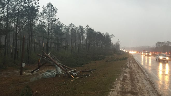 Mississippi Power Co. officials are working to restore power to more than 2,600 customers.
