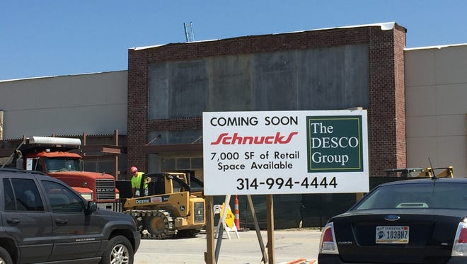 The new Schnucks store under construction at Lawndale Commons