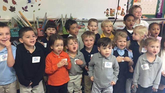 Cumberland Christian School preschoolers selected Alexander Alligator as their favorite character.