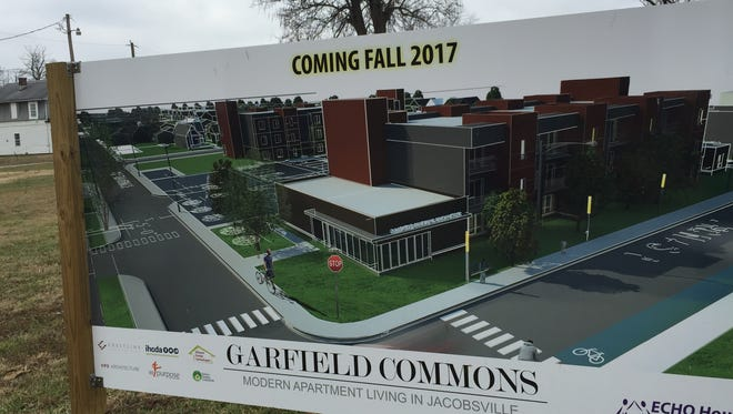 A rendering of the Garfield Commons housing development planned in Evansville's Jacobsville neighborhood