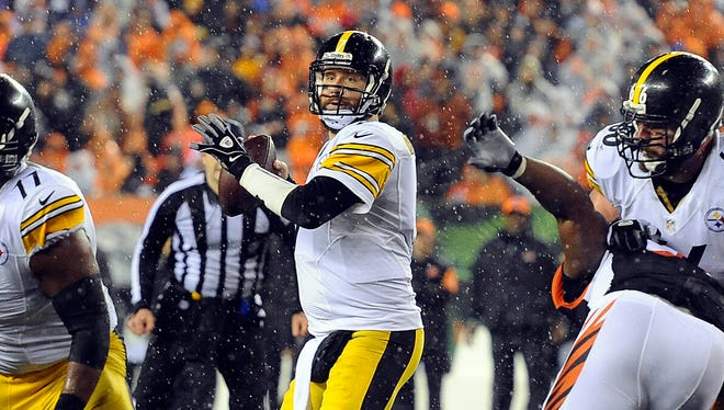 Ben Roethlisberger returned after injury to lead the Steelers to the game-winning field goal.
