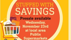 Eager shoppers can buy the Thanksgiving Day newspaper stuffed full of inserts early to get a jump on shopping