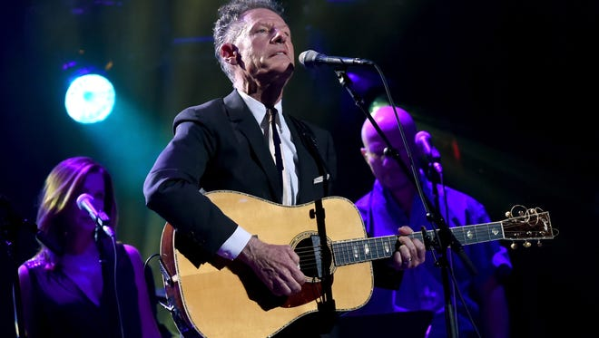 "Lyle Lovett  performs onstage during George Strait's ""Hand in Hand"" Texas benefit concert September 12, 2017 in San Antonio, Texas."