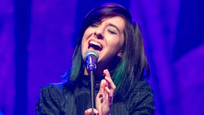 Christina Grimmie performs on stage at Center Stage on March 2 in Atlanta.