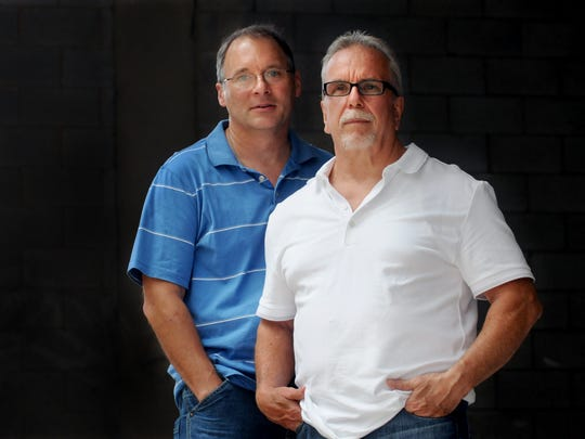 "Former Hennepin County sheriff's office Capt. Chris Omodt, left, collaborated with Pat Matter, former president of the Minneapolis Hells Angels, to write ""Breaking the Code."""