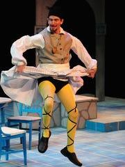 Clay Sanderson plays the supercilious steward Malvolio