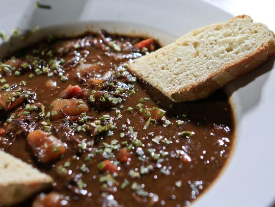 The Guiness Irish stew from Shenanigan's.  Sept. 10,