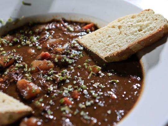 The Guiness Irish stew from Shenanigan's.  Sept. 10,