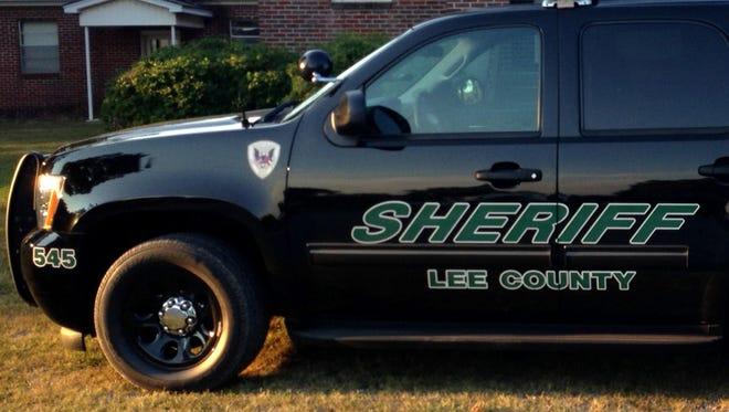 Lee County Sheriff's vehicle