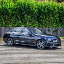 Classic lines of the C-Class include jeweled headlights, LED taillights and scalloped door panels.