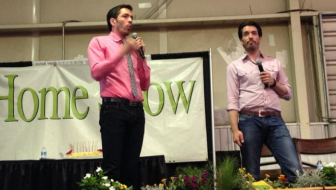 HGTV's PropertyBrothers, Jonathan (right) and Drew Scott, were guests of the 2013 Maricopa County Home & Landscape Show.